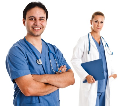 Portrait of a friendly doctor Stock Photo - 16129661