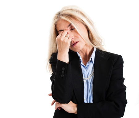 stressed business woman: Portrait of a stressed business woman Stock Photo