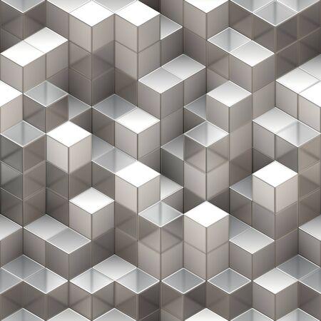 Resumen de fondo transparente hecha de cubos blancos y transparentes