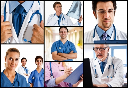 Portraits of doctors at work photo