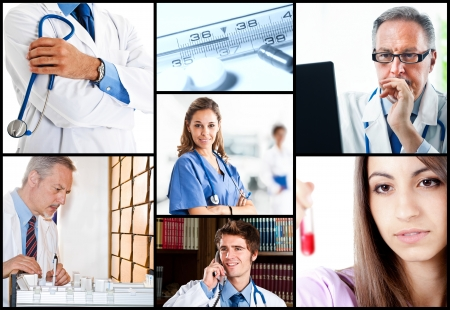 Composition of medical workers photo