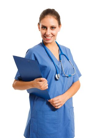 Portrait of a beautiful smiling nurse Stock Photo - 16408563