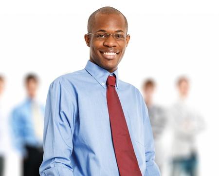black businessman: Portrait of an handsome black businessman