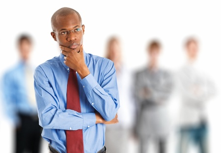 Portrait of a thoughtful businessman Stock Photo - 16408603