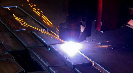 Cutting machine banner Stock Photo - 16447970
