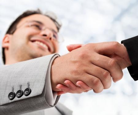 Businessperson shaking hand