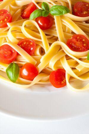 pasta salad: Pasta with fresh tomatoes and basil