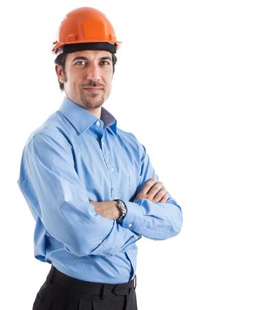 industrial site: Portrait of an handsome engineer