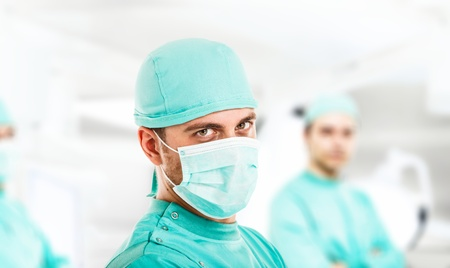 surgeon operating: Portrait of a confident surgeon