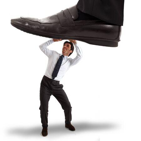 unexpected: Businessman having an unexpected problem