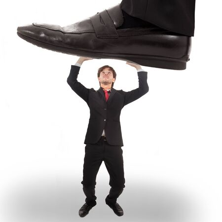 unfair: Business concept  unexpected trouble Stock Photo