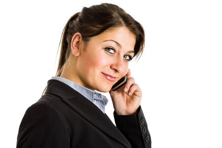 Portrait of a beautiful businesswoman talking on the phone Stock Photo - 16599355