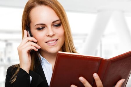 Portrait of a busy businesswoman at work Stock Photo - 16599281