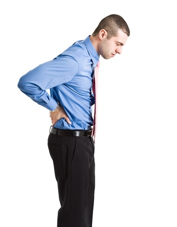 Man suffering for a backache photo