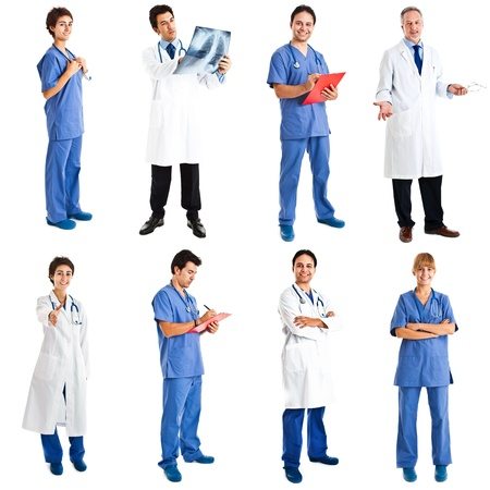 Collection of full length portraits of medical workers Stock Photo - 16732638