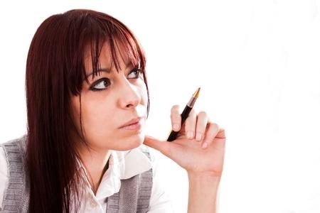 Pensive woman Stock Photo - 16732653
