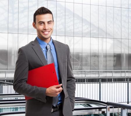optimismo: Retrato de un ejecutivo sonriente