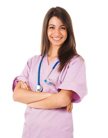 nurse: Portrait of a young beautiful nurse