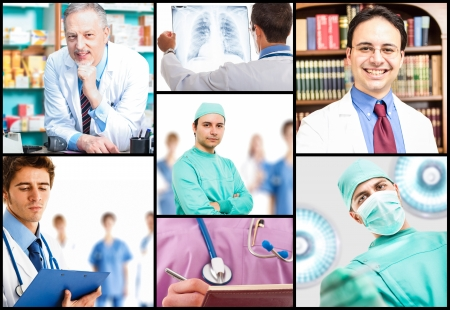 Portraits of medical people at work Stock Photo - 17792123