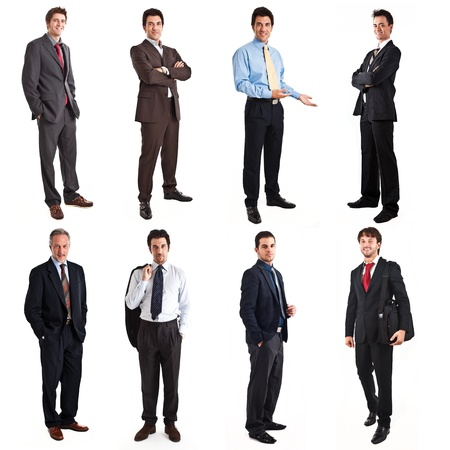 Collection of full length portraits of businessmen photo