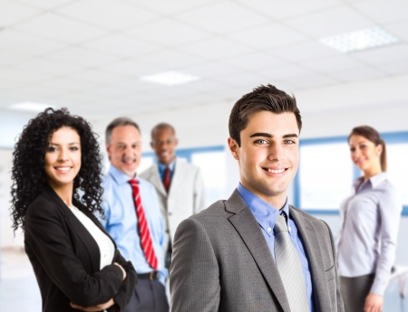 friendly people: Group of smiling business people Stock Photo