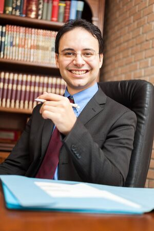 chief executive officers: Portrait of a businessman at work Stock Photo