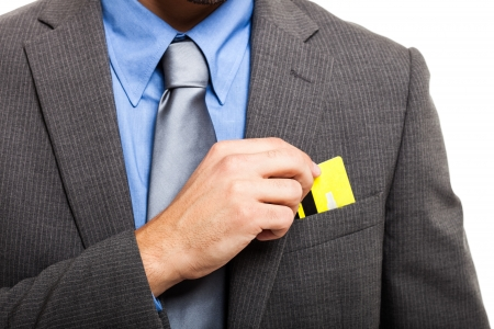 Businessman using a credit card Stock Photo - 17201400