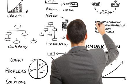 Businessman writing Business Verwandte Konzepte