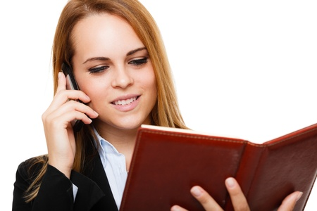 Portrait of a busy businesswoman at work Stock Photo - 17184289