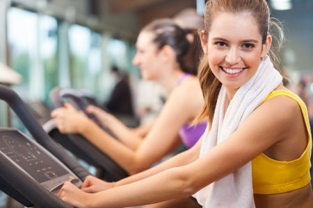 Group of people training in a gym Stock Photo - 17184194