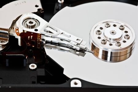 Close-up of an hard disk drive photo