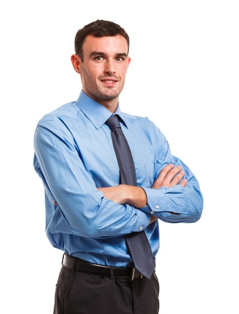 business men: Portrait of an handsome businessman Stock Photo