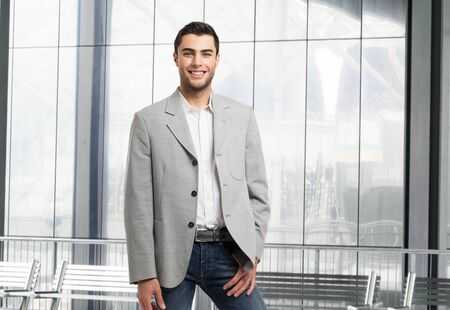 good shirt: Handsome young business man portrait Stock Photo