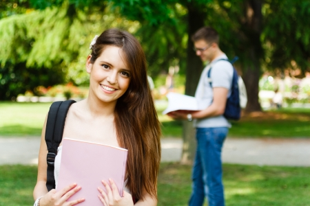 Portrait of a gorgeous smiling student Stock Photo - 17421479