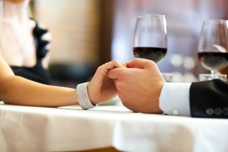 Couple having dinner in a restaurant Stock Photo - 17419974