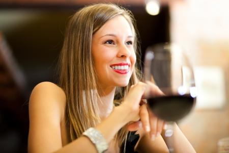 Couple having dinner in a restaurant Stock Photo - 17420104