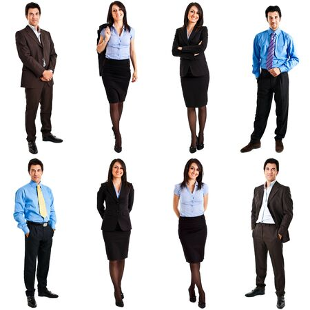 full length: Collection of full length portraits of business people