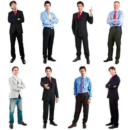 Collection of full length portraits of businessmen Stock Photo - 17575430