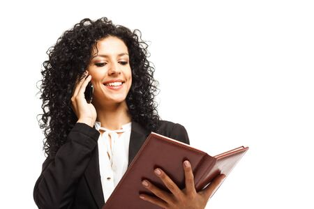 Portrait of a busy businesswoman at work Stock Photo - 17575567