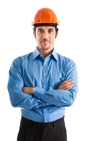 Portrait of an handsome engineer Stock Photo - 17574809