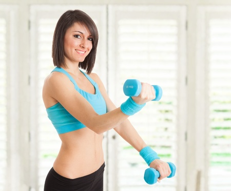 Portrait of a beautiful woman working out Stock Photo - 17575565