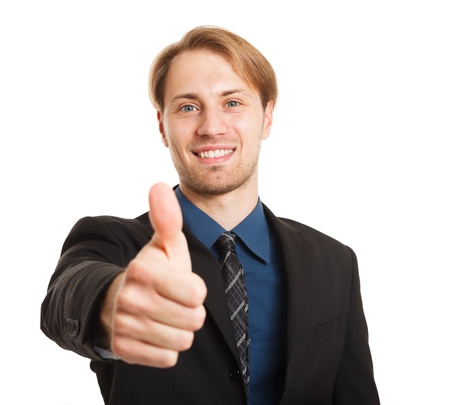 Businessman doing thumbs up sign Stock Photo - 17575529