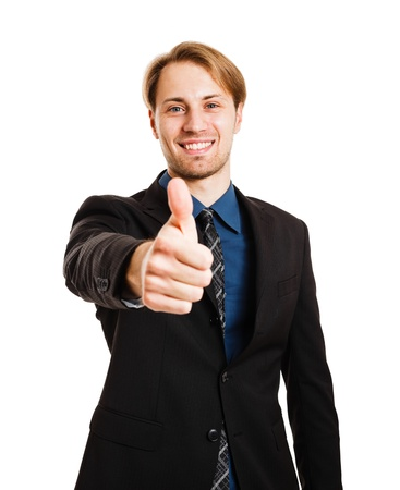 Businessman doing thumbs up sign Stock Photo - 17575471
