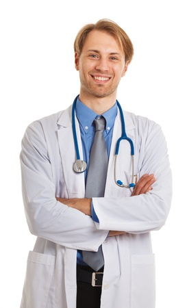 Portrait of an handsome smiling doctor Stock Photo - 17575518
