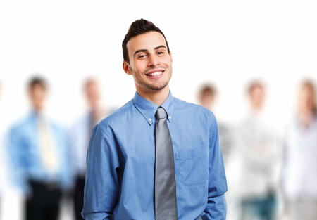 Businessman in front of his team Stock Photo - 17547562