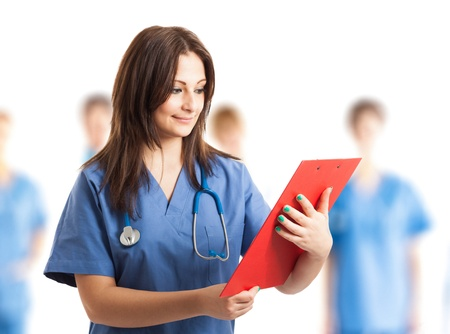 Portrait of a beautiful nurse Stock Photo - 17575516
