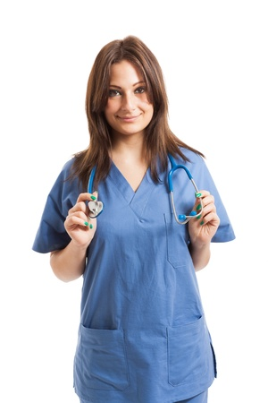 Portrait of a beautiful nurse Stock Photo - 17547522