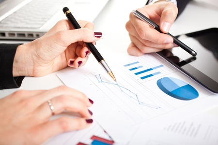 Business people at work during a meeting Stock Photo - 17687784