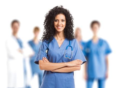 Portrait of a beautiful nurse Stock Photo - 17687853