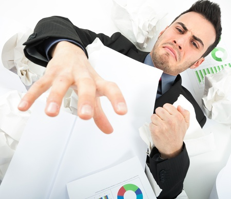 Businessman asking for help Stock Photo - 17687953